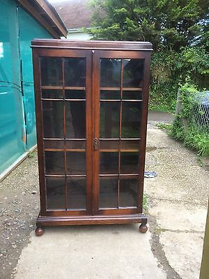 Antique Oak Glazed Bookcase