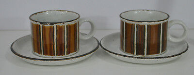 TWO MIDWINTER STONEHENGE ENGLAND EARTH  Cup and Saucers Wedgwood 1970's Style