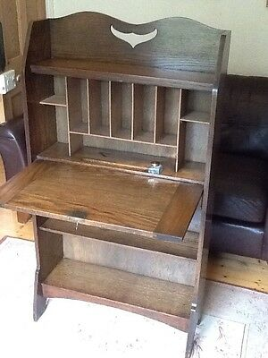 Arts & Crafts Oak Students Desk Bookcase