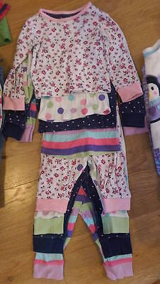 bundle of 5 baby girls 12-18 months pjs