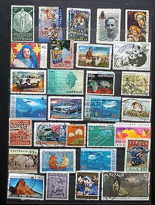 AUSTRALIA   GREAT LOT of 30 different  OLD used   Commemorative STAMPS   Lot #15