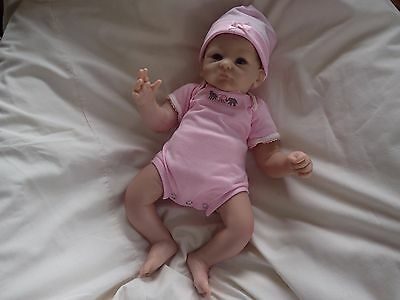 "Ashton Drake ""LITTLE PEANUT"" LIFELIKE WEIGHTED NEWBORN BABY DOLL"