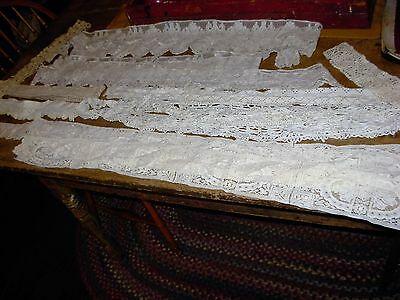 Antique Hand Crochet Lace Trims Lot Approx. 20 Yards