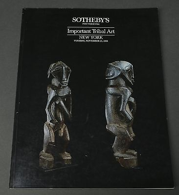 Sotheby's Important Tribal Art, African, London November 1988 with prices