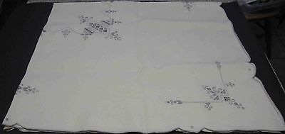 "42"" Square Embroidered Tablecloth with 6 Napkins"