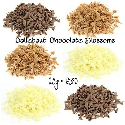 25g Callebaut Chocolate Curls Sprinkles inclusions Cake Decorations Topping