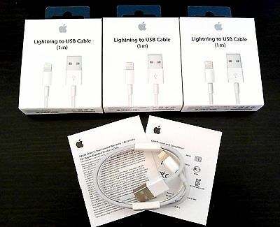 Lot of 3 OEM Certified Original Lightning USB Charger Cable For  Apple iPhone7,6