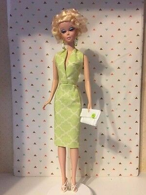 OOAK Green and White Halter Dress for Silkstone Barbie