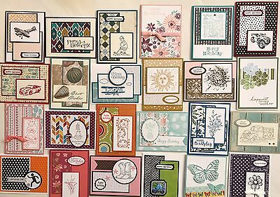 24 Handmade Male/Female/Kids Birthday cards   Stampin' Up! + more