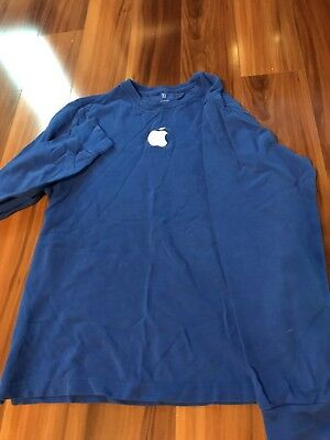 Apple Store Employee Shirt, Long Sleeve, BLUE - Size Small (S)
