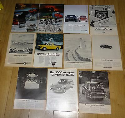 10 VW misc the thing volkswagon car print ad ads vintage lot E21