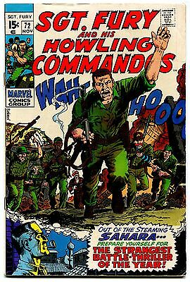 Sgt Fury and his Howling Commandos 72 FN 6.0 Marvel Comics 1969