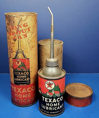 Texaco Home Lubricant Oil Can With Original Box