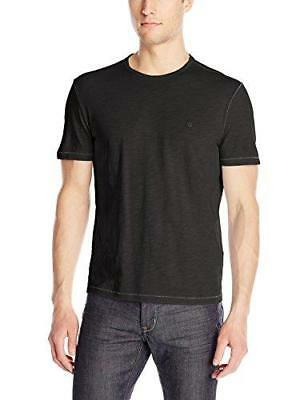 John Varvatos Star USA Men's Short Sleeve Peace Crew Neck T-Shirt, Black, Large