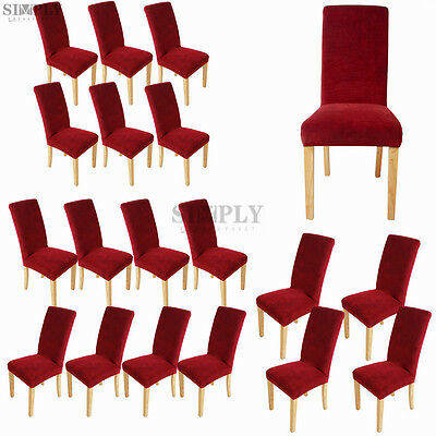 Wine Stretch Dining Room Seat Covers Chair Cover Removable Protector Slipcover