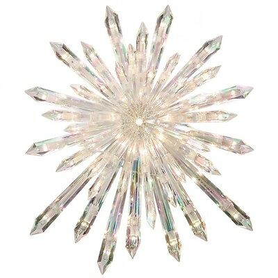 """New CHRISTMAS 13.5"""" PRELIT CRYSTAL TREE TOPPER STAR STUNNING - DISCONTINUED STAR"""