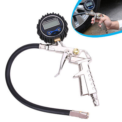 Car Air Tire Tyre Inflator With High Accurate LCD Digital Pressure Gauge & Clip