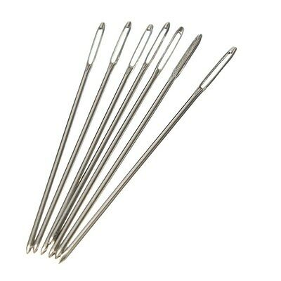 100x Silver Tail Needle Size 24 For 11 Sets Embroidery Fabric Cross Stitch 1.4in