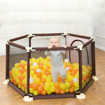 New Baby Play Pen Playard Portable Folding Outdoor Indoor Safety Free Standing