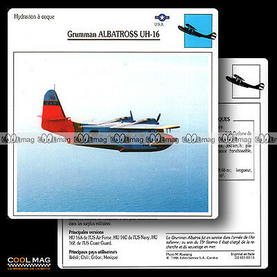 #003.14 GRUMMAN ALBATROS UH 16 Hydravion - Fiche Avion Airplane Card