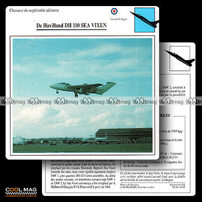 #049.05 DE HAVILLAND DH 110 SEA VIXEN - Fiche Avion Airplane Card