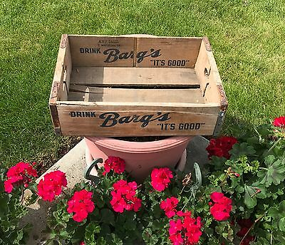 Barq's  Root Beer wooden carrier crate