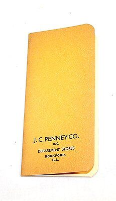 Vintage 1930 JC Penney Department Store Guide Catalog Calendar Ex 2017 Gift Card