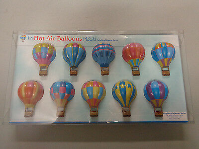 Tin Hot Air Balloons Mobile Schylling Collector Series NIB Adult Decoration
