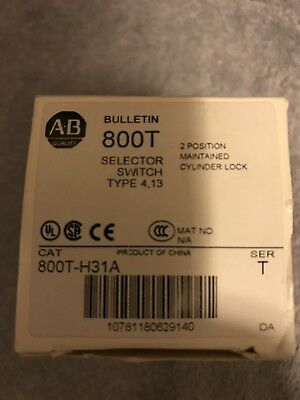NIB Allen-Bradley 800T-H31A 2 Position Maintained Cylinder Lock