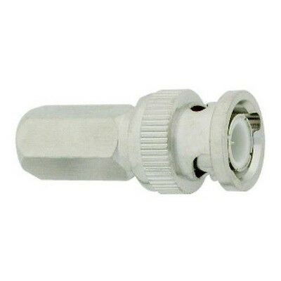 Lot10 BNC PLENUM RG59 Twist-on male coax/coaxial connector,CCTV,Video camera End
