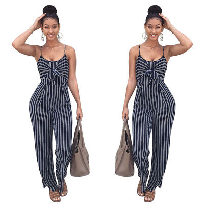 Womens Ladies Clubwear Sleeveless Playsuit Bodycon Party Jumpsuit Long Rompers