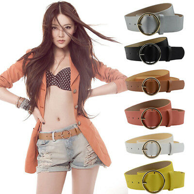 Fashion Women Girl Casual Simple Faux Leather Waistband Waist Belt for Jeans New