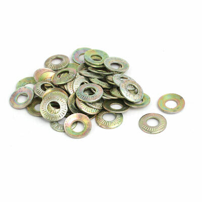 uxcell M12 Inner Dia Carbon Steel Serrated Conical Washer Bronze Tone 15pcs