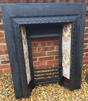 Original Aston & Greens Cast Iron Fireplace - Tiles All Great Condition