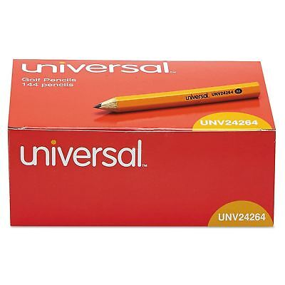 Universal® Golf & Pew Pencil, HB, Yellow Barrel, 144ct.  *** NEW ***