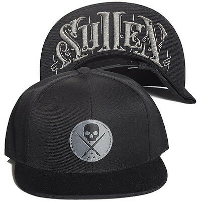 Sullen Untold Snapback Badge Of Honor Logo Embroidered Cap Hat Tattoo Black Grey
