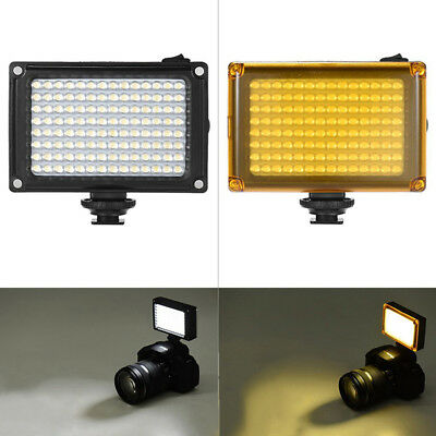 LED Video Licht Foto Lampe Blitz Panel Dimmbare für Canon Nikon DSLR-Kamera