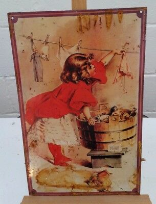 Vintage Antique Enamel/Tin Advertising Sign 1990s Reproduction - Ivory Soap