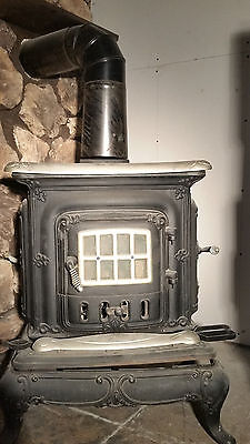 Washington Stove Works - antique parlor stove. Natural Gas or wood