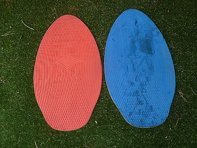 2 red and blue skim boards, lot 228, Pick up Langwarrin 3910