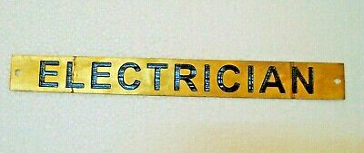 ELECTRICIAN – Marine BRASS Door Sign -  Boat/Nautical - 9 x 1 Inches (181)
