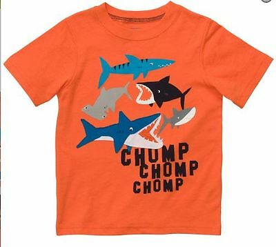 Carter's Boys Shark Graphic Tee Sz 0/12M ~ New Top Graphic Cute Crew Neck Cotton