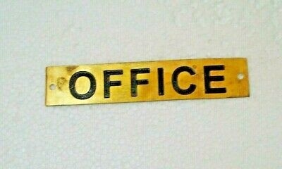 LOBBY  – Marine BRASS Door Sign 5 x 1 Inches 232 Boat//Nautical