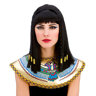 Ladies Cleopatra Wig for Egyptian Ancient Queen Fancy Dress Cosplay Outfit