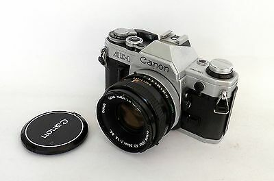 Canon AE-1 35mm SLR with 50mm F1.8 FD Lens :FREE UK POST: 110MS