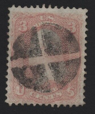 United States USED SCOTT NUMBER 63 GREAT CANCEL VF - BARNEYS