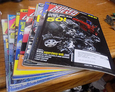 Super Chevy magazine lot 10 issues
