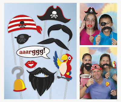 Photo Props x10 Pirate Boys Birthday Party Pirate Game