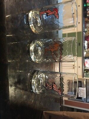 Lot of (3) EARLY 80'S  Arbys BC Ice Age Collector Glasses!