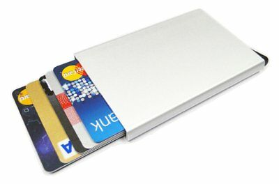 Cascade Wallet Automatic Popup Card Holder Rfid Blocking Silver Fast Free Ship